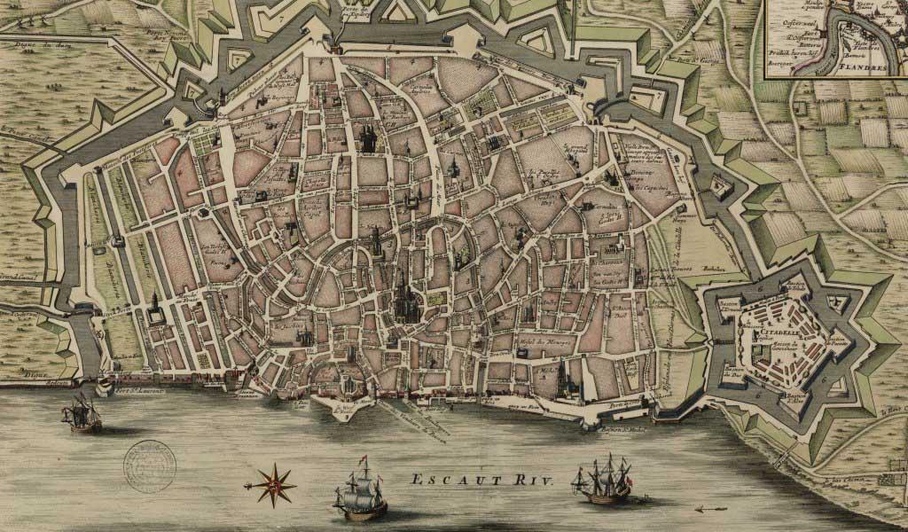 Spaanse omwalling met redezicht rond 1800