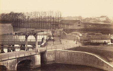 De Rode Poort in het midden van de 19e eeuw