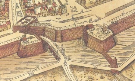 The Red Gate on the map of Virgilius Bononiensis