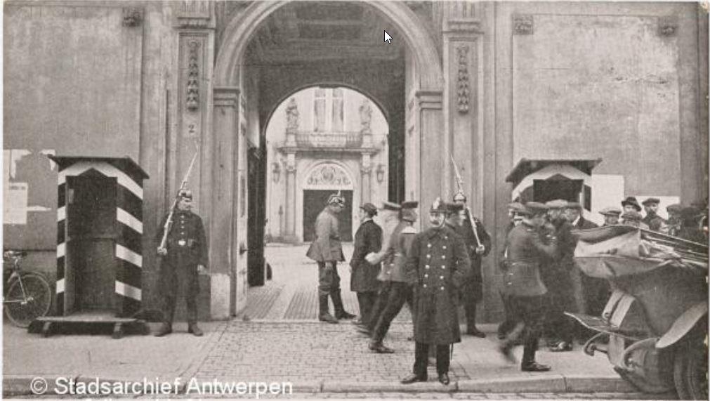 Gouvernementshotel als Duits hoofdkwartier, 1914-1918