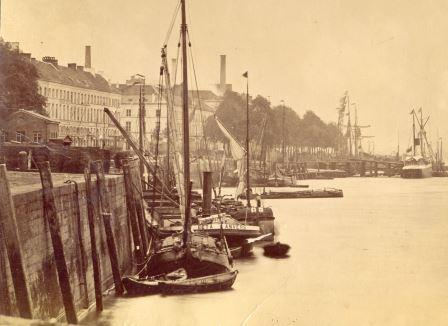 View from the River Scheldt before the Scheldt quays were realigned