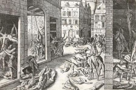 Gruweldaden tijdens de Spaanse furie (F. Hogenberg)
