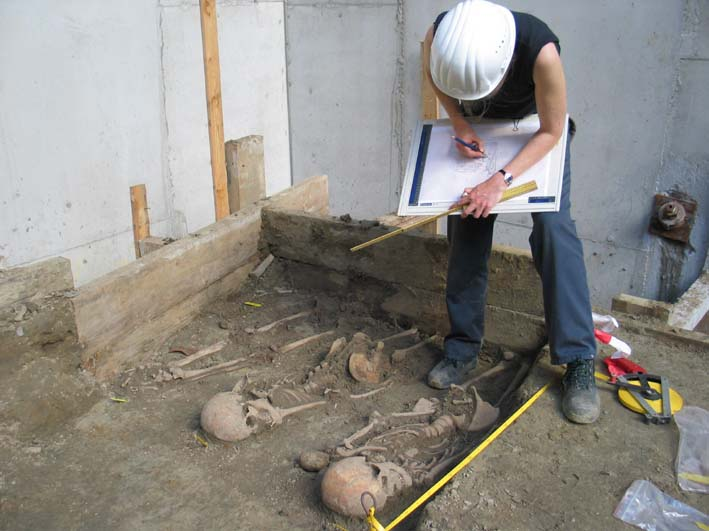 Opmeting archeologische sporen