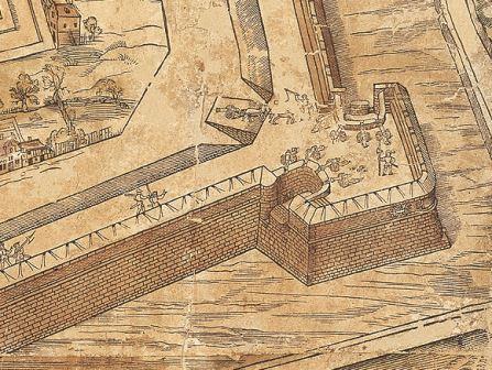 The Schijn Bastion on the map of Virgilius Bononiensis (1565)