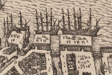 Wharves near Brouwersvliet (16th century)