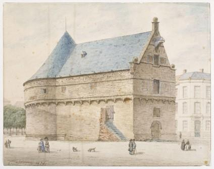 Drawing of the Blue Tower by J. Linnig