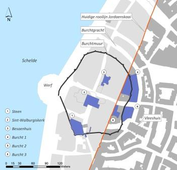Situation of the archaeological survey of the fortress in 2008-2009