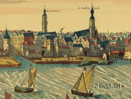 The quays of Antwerp around 1600