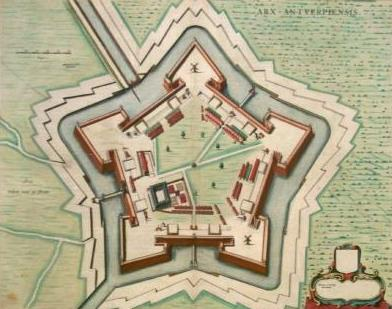 Sixteenth-century print of the citadel