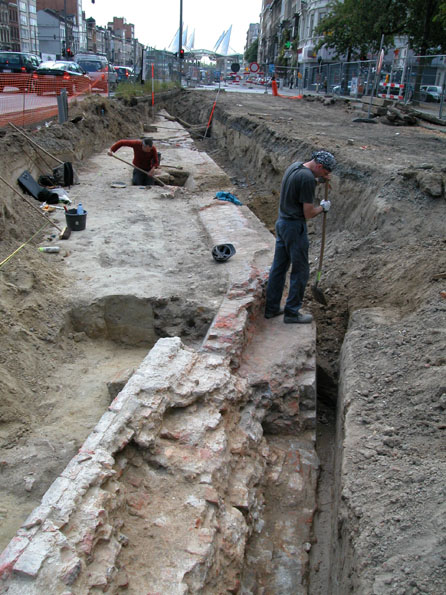 Excavation of the citadel in Amerikalei in 2004