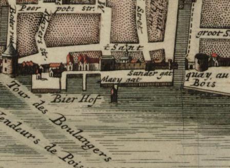The wharves around 1700