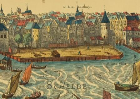 The quays in this location around 1600