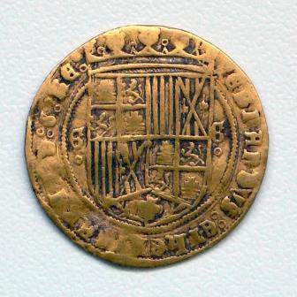 Gouden munt achterzijde
