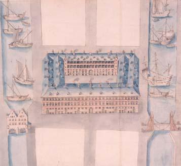Het Hansahuis tussen de dokken