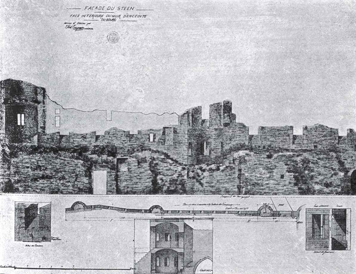 Drawing of the fortress wall by Truyman