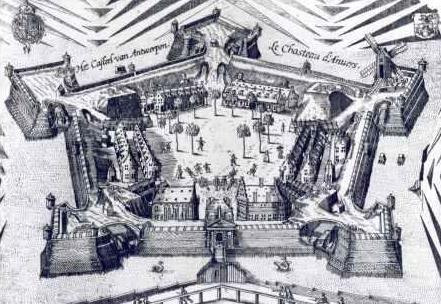Sixteenth-century print of the citadel