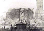 The Hanseatic House destroyed by a fire in 1893