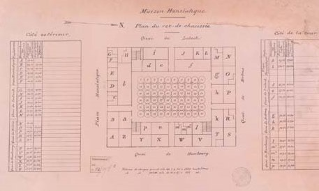 Plan of the grain silos in the Hanseatic House