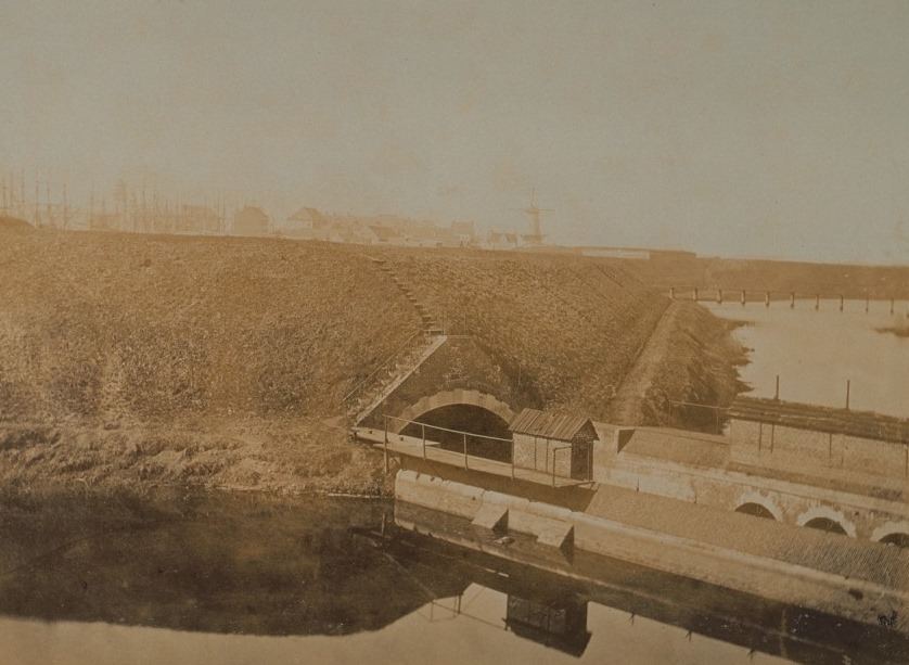 The lock on the Schijn river around 1860