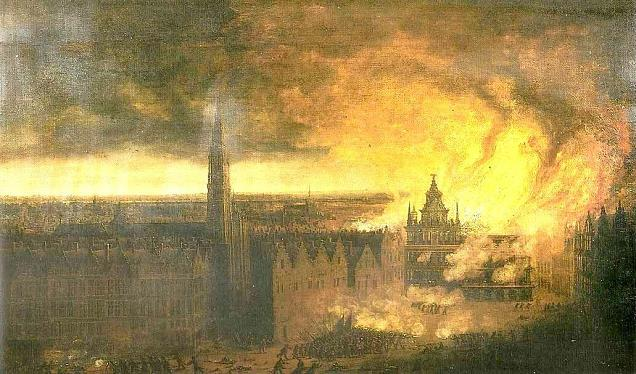 The fire at the town hall in 1576