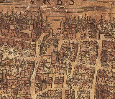 De Sint-Jansvliet op het plan van Virgilius Bononiensis, 1565