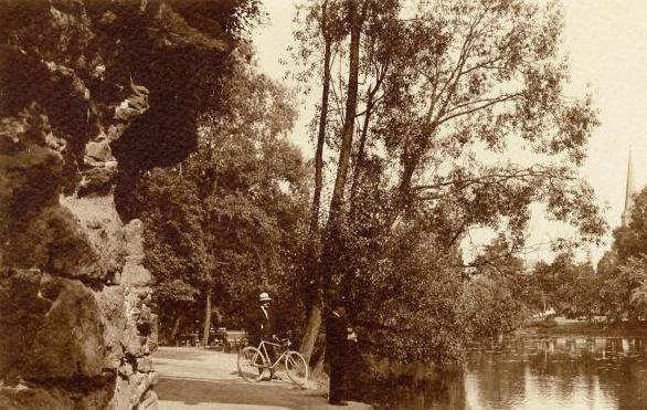 Sfeerbeeld stadspark rond 1910
